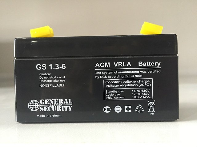 GS 1,3-6 - аккумулятор General Security 1.3ah 6V