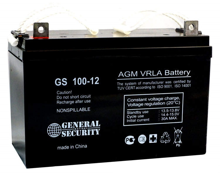 GS 100-12 - аккумулятор General Security 100ah 12V