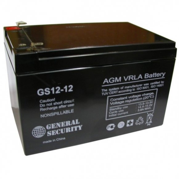 GS 12-12 - аккумулятор General Security 12ah 12V