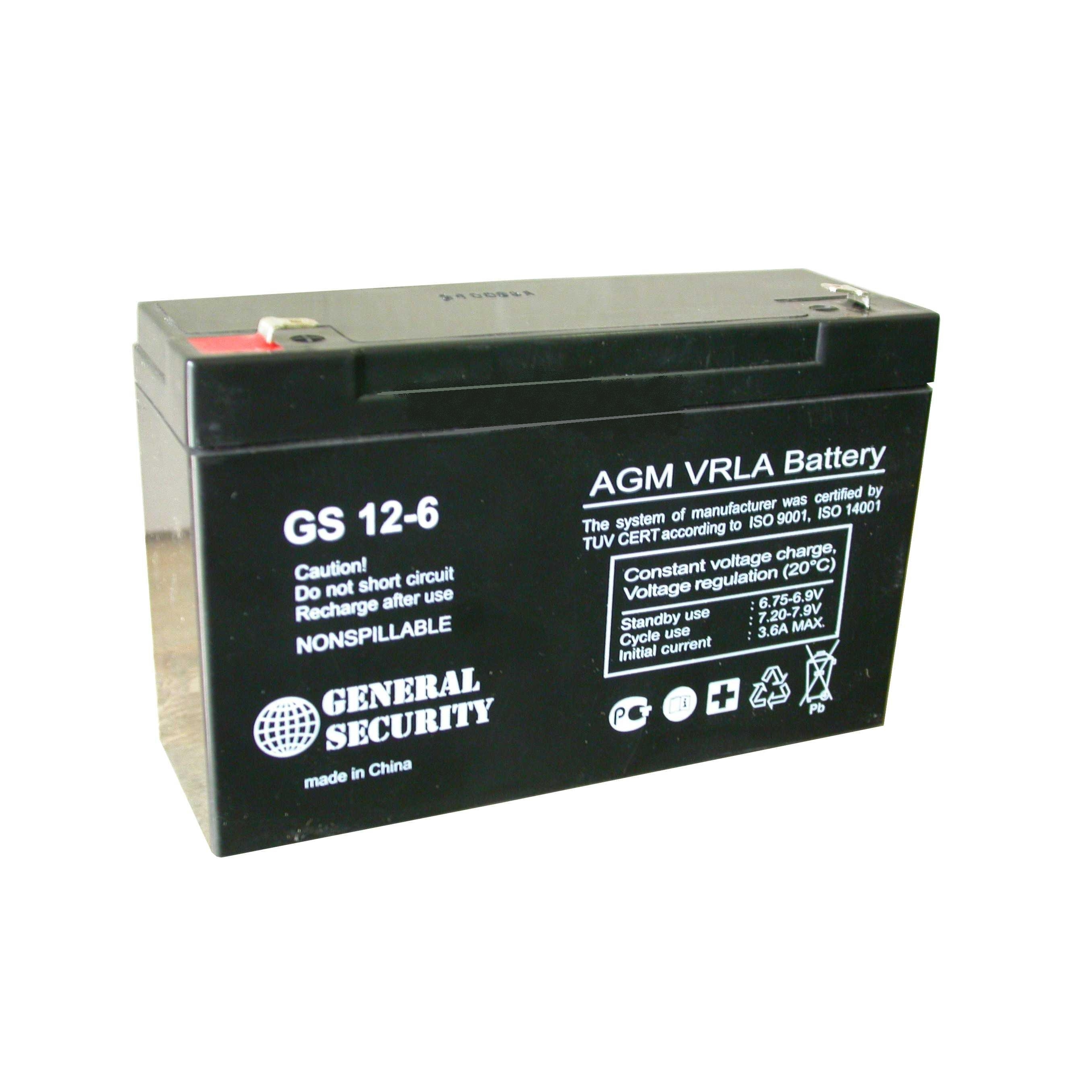 GS 12-6 - аккумулятор General Security 12ah 6V