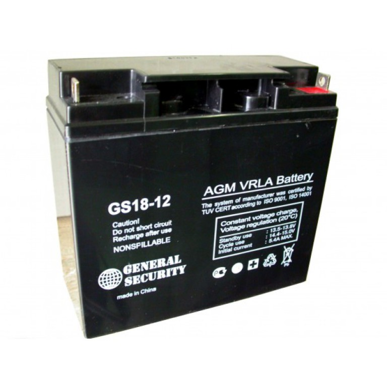 GS 18-12 - аккумулятор General Security 18ah 12V