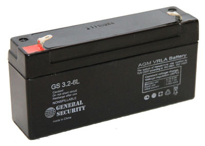 GS 3,2-6 L - аккумулятор General Security 3.2ah 6V